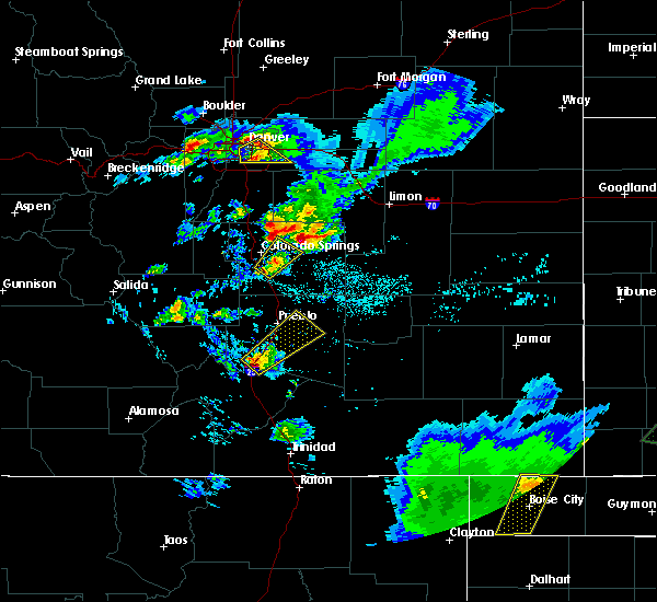 Radar Image for Severe Thunderstorms near Fountain, CO at 7/5/2019 6:52 PM MDT