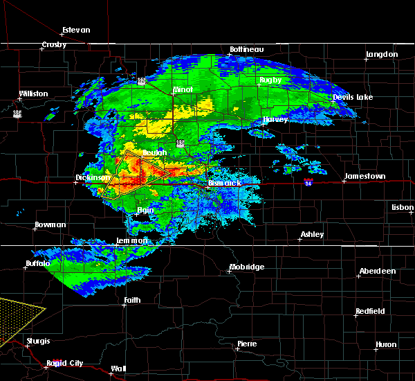 Radar Image for Severe Thunderstorms near New Salem, ND at 6/19/2015 8:24 PM CDT