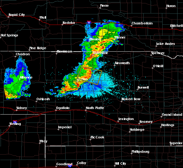 Radar Image for Severe Thunderstorms near Brownlee, NE at 7/5/2019 10:44 PM CDT