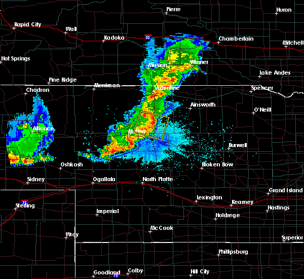 Radar Image for Severe Thunderstorms near Brownlee, NE at 7/5/2019 10:54 PM CDT