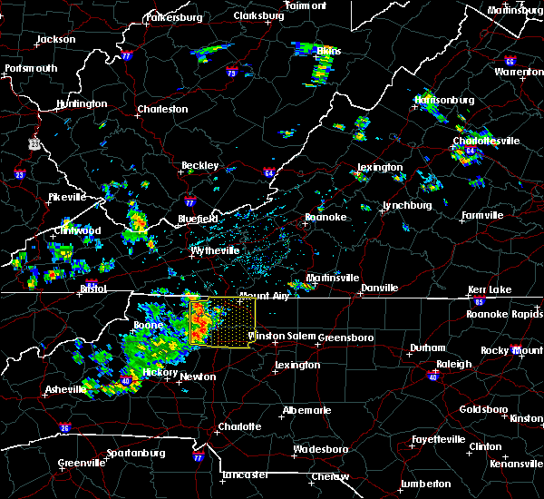 Radar Image for Severe Thunderstorms near Dobson, NC at 7/6/2019 1:20 PM EDT