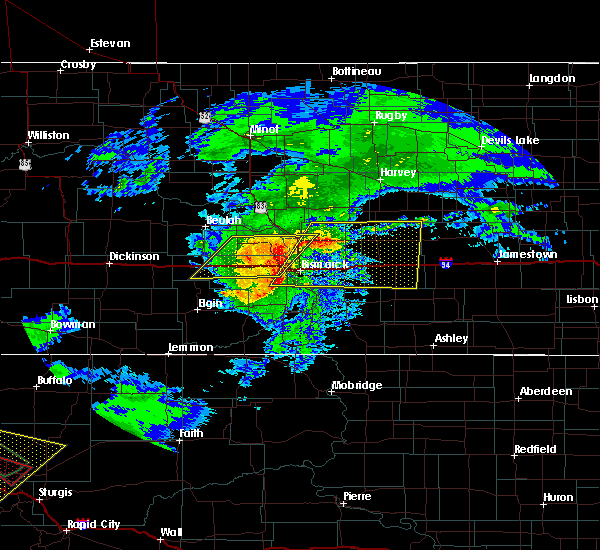 Radar Image for Severe Thunderstorms near New Salem, ND at 6/19/2015 8:56 PM CDT