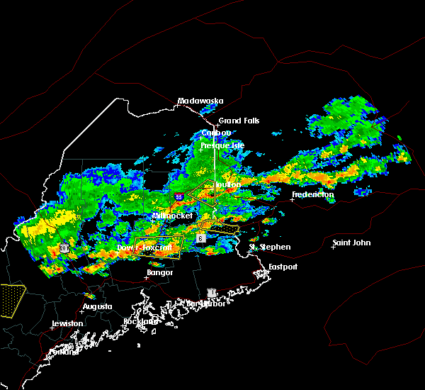 Radar Image for Severe Thunderstorms near Milo, ME at 7/6/2019 2:58 PM EDT