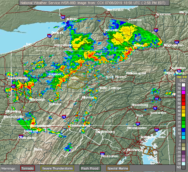 Radar Image for Severe Thunderstorms near Hyde, PA at 7/6/2019 3:02 PM EDT