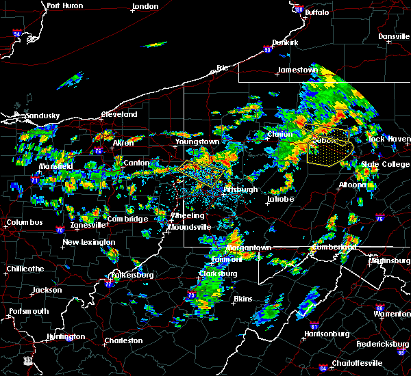 Radar Image for Severe Thunderstorms near Bradford Woods, PA at 7/6/2019 3:07 PM EDT