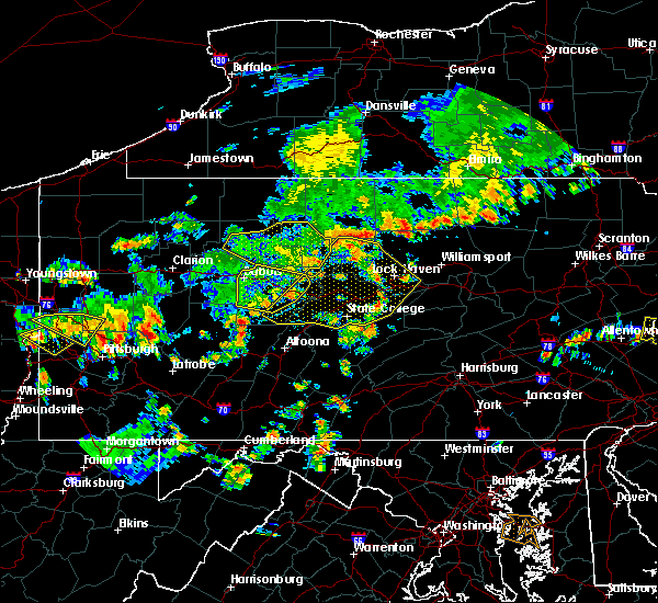 Radar Image for Severe Thunderstorms near Julian, PA at 7/6/2019 3:46 PM EDT