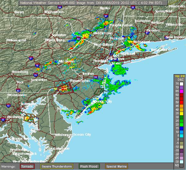 Radar Image for Severe Thunderstorms near Upper Stewartsville, NJ at 7/6/2019 4:07 PM EDT