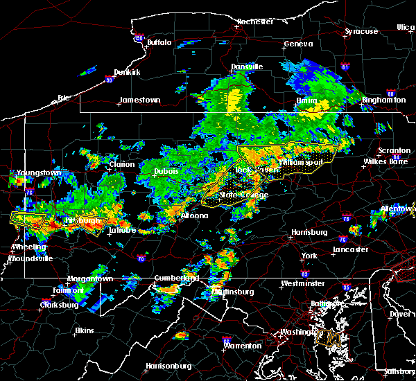 Radar Image for Severe Thunderstorms near Julian, PA at 7/6/2019 4:19 PM EDT