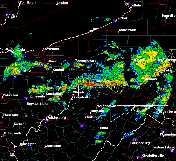 Radar Image for Severe Thunderstorms near Youngstown, PA at 7/6/2019 4:33 PM EDT
