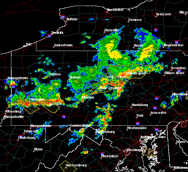 Radar Image for Severe Thunderstorms near Lilly, PA at 7/6/2019 4:45 PM EDT
