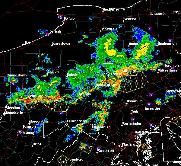 Radar Image for Severe Thunderstorms near Orbisonia, PA at 7/6/2019 4:49 PM EDT
