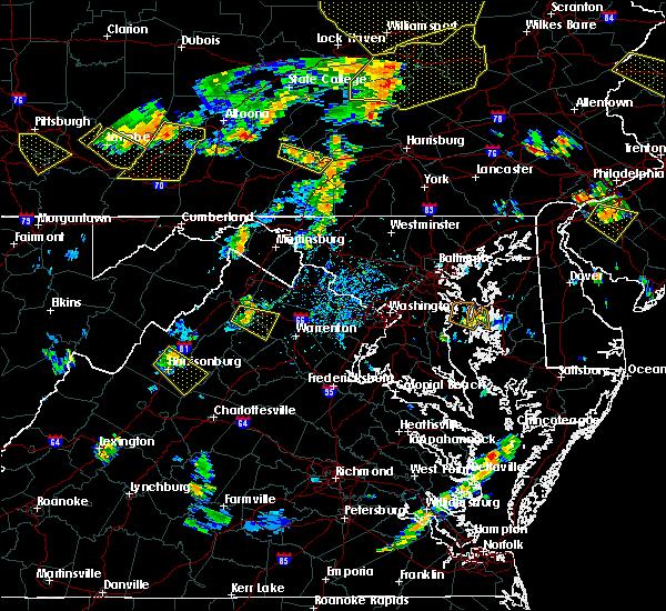 Radar Image for Severe Thunderstorms near Apple Mountain Lake, VA at 7/6/2019 5:00 PM EDT