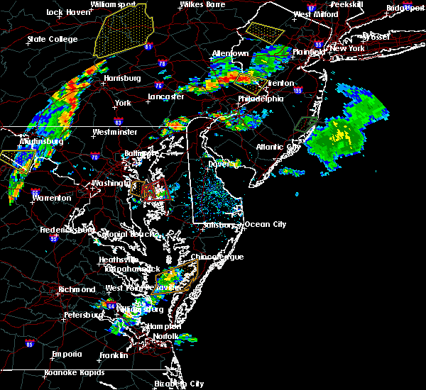 Radar Image for Severe Thunderstorms near Stevensville, MD at 7/6/2019 5:30 PM EDT