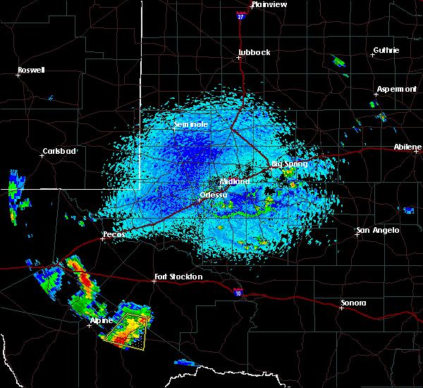 Radar Image for Severe Thunderstorms near Marathon, TX at 7/6/2019 4:31 PM CDT
