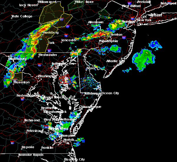 Radar Image for Severe Thunderstorms near Stevensville, MD at 7/6/2019 5:54 PM EDT