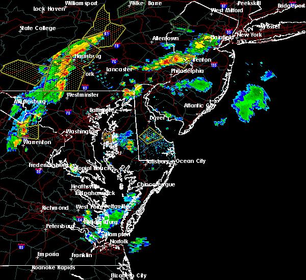 Radar Image for Severe Thunderstorms near Harrington, DE at 7/6/2019 6:03 PM EDT