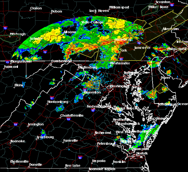 Radar Image for Severe Thunderstorms near Lancaster, PA at 7/6/2019 6:29 PM EDT