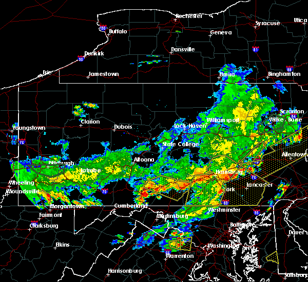 Radar Image for Severe Thunderstorms near Hometown, PA at 7/6/2019 6:31 PM EDT