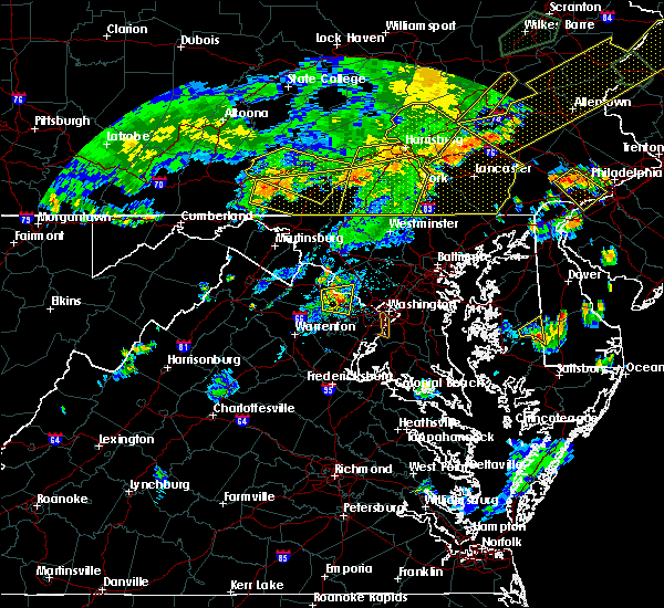 Radar Image for Severe Thunderstorms near Dover, PA at 7/6/2019 6:47 PM EDT