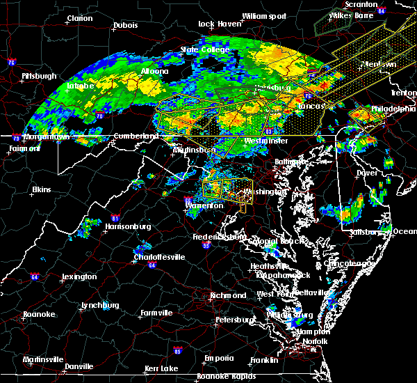 Radar Image for Severe Thunderstorms near Garrett Park, MD at 7/6/2019 7:05 PM EDT