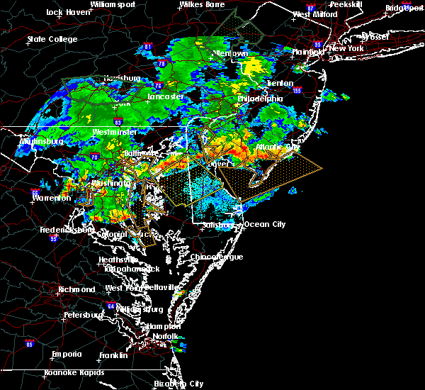 Radar Image for Severe Thunderstorms near Dover, DE at 7/6/2019 9:20 PM EDT