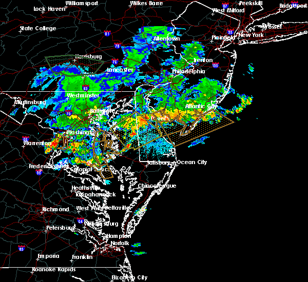 Radar Image for Severe Thunderstorms near Dover, DE at 7/6/2019 9:44 PM EDT