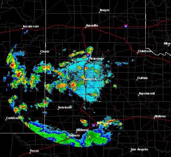 Radar Image for Severe Thunderstorms near Ropesville, TX at 7/6/2019 9:32 PM CDT