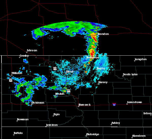 Radar Image for Severe Thunderstorms near Shell Valley, ND at 7/8/2019 5:40 AM CDT