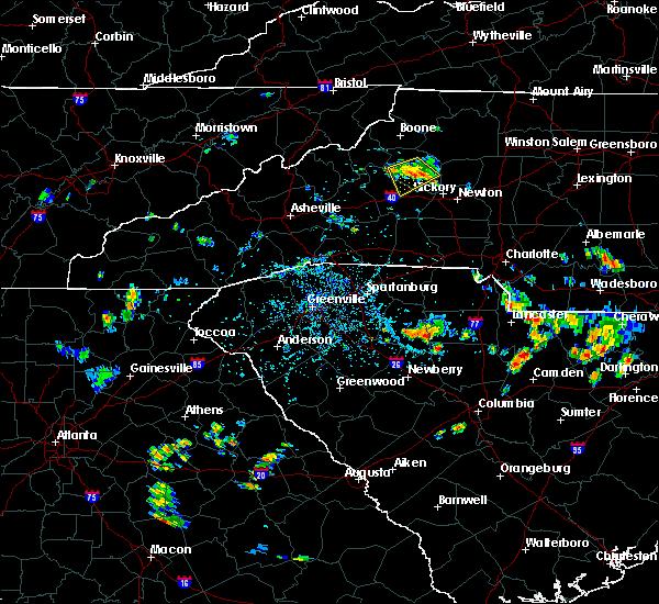 Radar Image for Severe Thunderstorms near Lenoir, NC at 7/8/2019 4:42 PM EDT