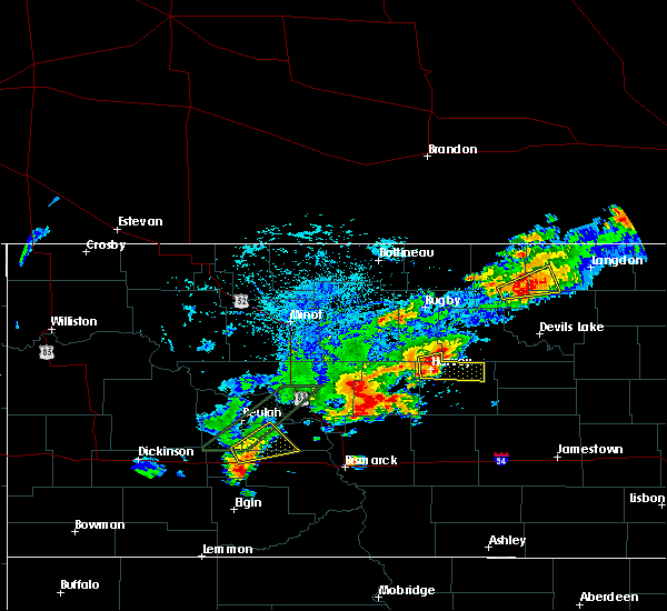 Radar Image for Severe Thunderstorms near Harvey, ND at 7/8/2019 4:07 PM CDT