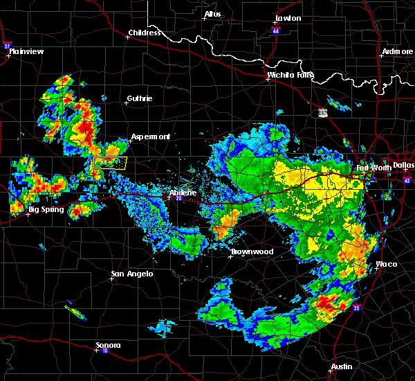 Radar Image for Severe Thunderstorms near Rotan, TX at 7/8/2019 4:18 PM CDT