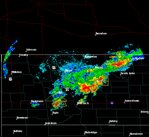 Radar Image for Severe Thunderstorms near Harvey, ND at 7/8/2019 4:21 PM CDT