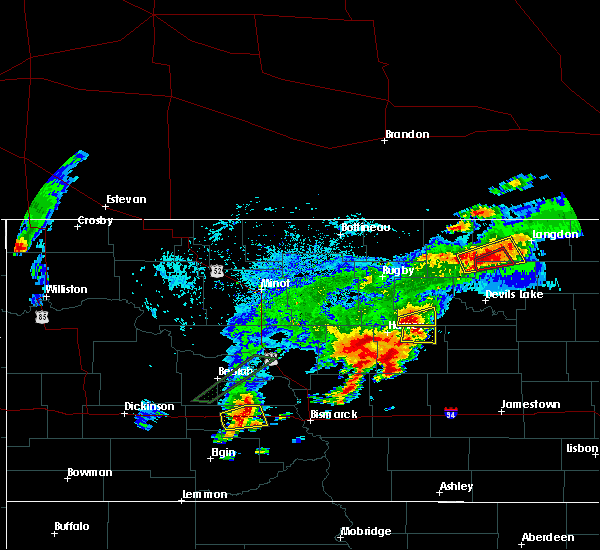Radar Image for Severe Thunderstorms near Heimdal, ND at 7/8/2019 4:37 PM CDT