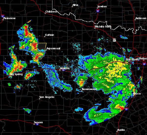 Radar Image for Severe Thunderstorms near Rotan, TX at 7/8/2019 4:43 PM CDT