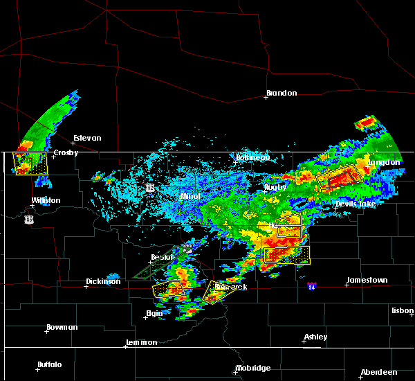 Radar Image for Severe Thunderstorms near Heimdal, ND at 7/8/2019 4:56 PM CDT