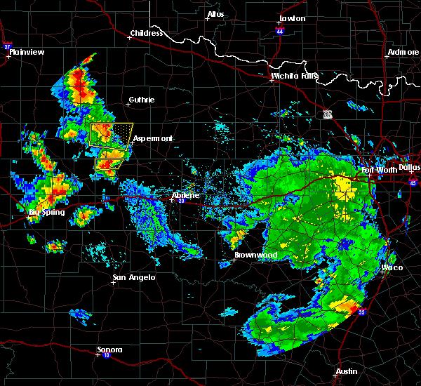 Radar Image for Severe Thunderstorms near Jayton, TX at 7/8/2019 4:57 PM CDT