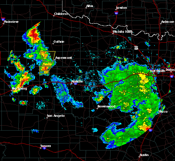 Radar Image for Severe Thunderstorms near Rotan, TX at 7/8/2019 5:00 PM CDT