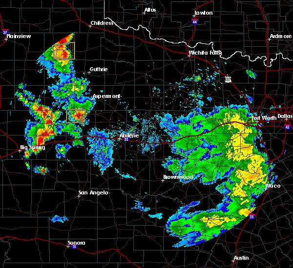 Radar Image for Severe Thunderstorms near Rotan, TX at 7/8/2019 5:21 PM CDT