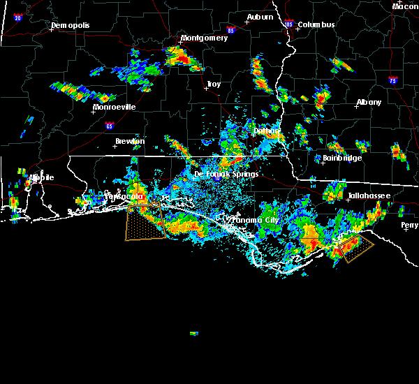 Radar Image for Severe Thunderstorms near Destin, FL at 7/8/2019 5:47 PM CDT