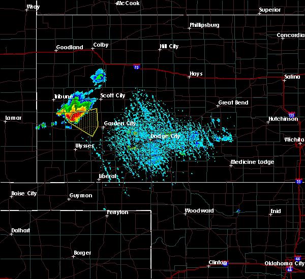 Radar Image for Severe Thunderstorms near Holcomb, KS at 7/8/2019 6:00 PM CDT