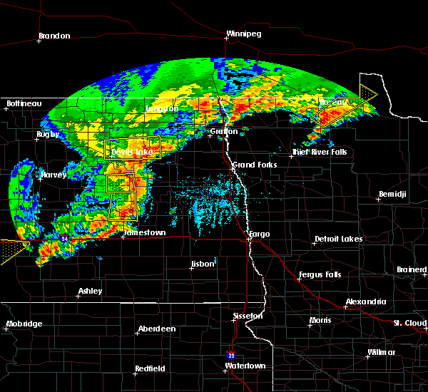 Radar Image for Severe Thunderstorms near Warroad, MN at 7/8/2019 6:21 PM CDT