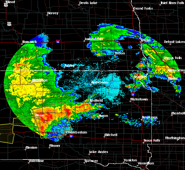 Radar Image for Severe Thunderstorms near Reliance, SD at 6/20/2015 12:57 AM CDT
