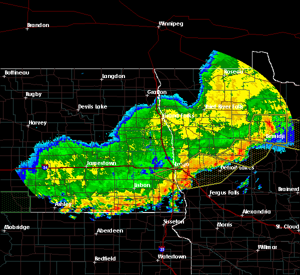 Radar Image for Severe Thunderstorms near White Earth, MN at 7/8/2019 10:39 PM CDT