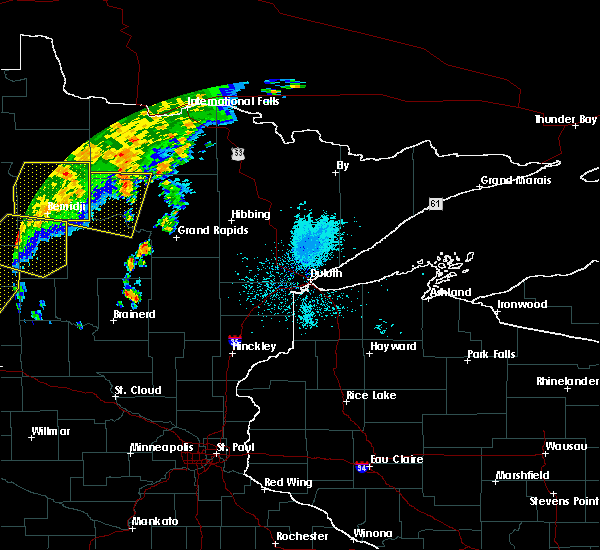 Radar Image for Severe Thunderstorms near Cass Lake, MN at 7/8/2019 11:00 PM CDT