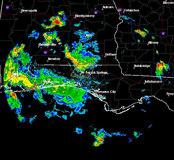 Radar Image for Severe Thunderstorms near Ponce de Leon, FL at 7/9/2019 5:58 PM CDT
