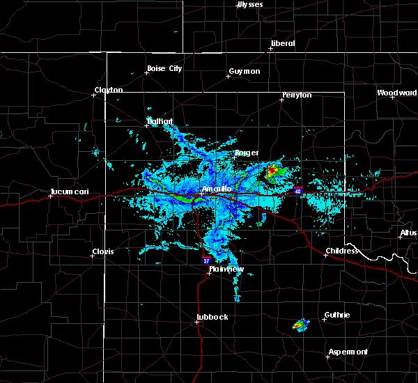 Radar Image for Severe Thunderstorms near Lefors, TX at 7/9/2019 7:28 PM CDT