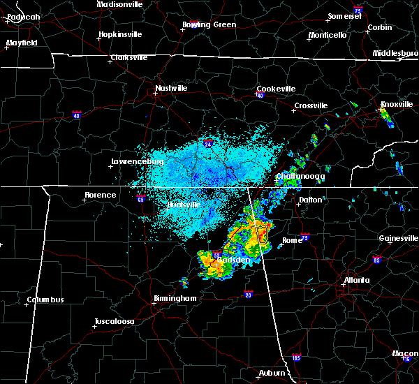 Radar Image for Severe Thunderstorms near Menlo, GA at 7/9/2019 10:37 PM EDT
