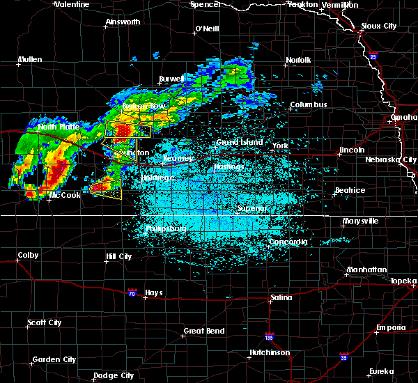 Radar Image for Severe Thunderstorms near Oxford, NE at 7/10/2019 2:04 AM CDT