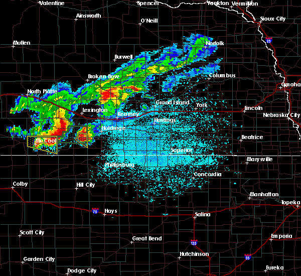 Radar Image for Severe Thunderstorms near Oxford, NE at 7/10/2019 2:34 AM CDT
