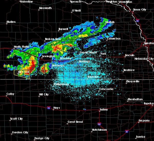 Radar Image for Severe Thunderstorms near Oxford, NE at 7/10/2019 2:38 AM CDT